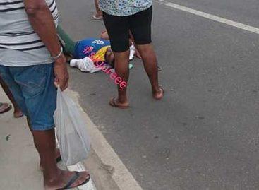 Ciclista é atropelado nas proximidades do Conjunto Orlando Dantas