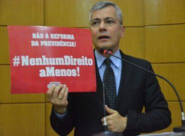 Iran Barbosa se manifesta contrário à Reforma da Previdência Estadual