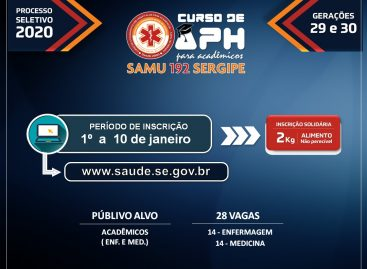 Inscrições para curso do Samu se encerram na próxima sexta-feira, 10