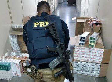 PRF apreende mais de 200 pacotes de cigarros contrabandeados