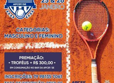 I Open de Tênis de Campo APCEF/SE nos dias 25 e 26 de janeiro