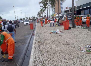 Após Réveillon, Emsurb recolhe 32,21 toneladas de lixo na Orla da Atalaia