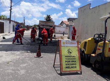 Prefeitura de Nossa Senhora do Socorro realiza operação Tapa-Buraco