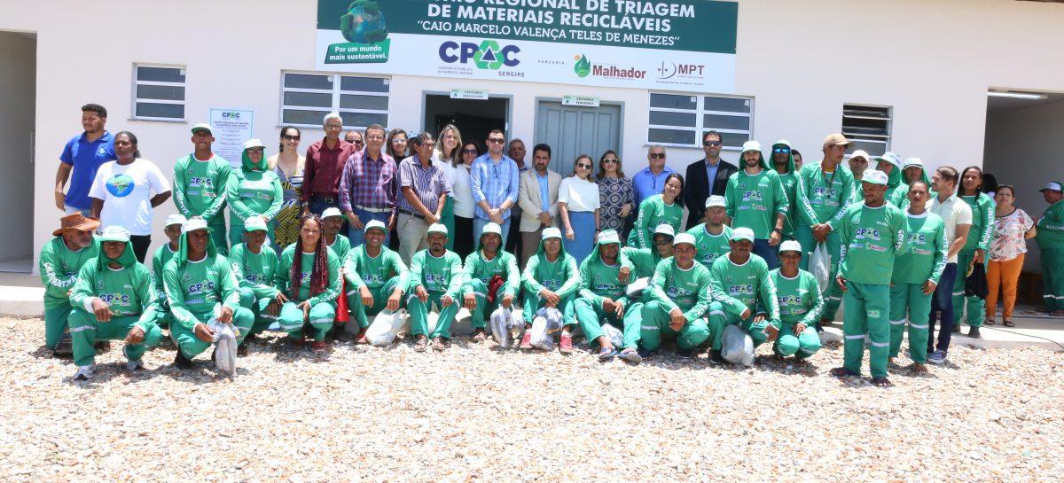 Malhador inaugura centro de triagem de resíduos recicláveis na região agreste