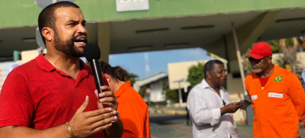 Jefferson Lima do PT participa de protestos do INSS e Petrobrás em Aracaju
