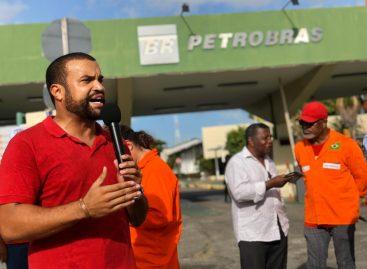Jefferson Lima do PT participa de protestos do INSS e Petrobrás em Aracaju