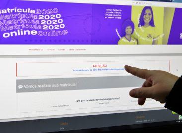 Matrícula online permite alternativa para alunos da rede estadual com cadastro de espera
