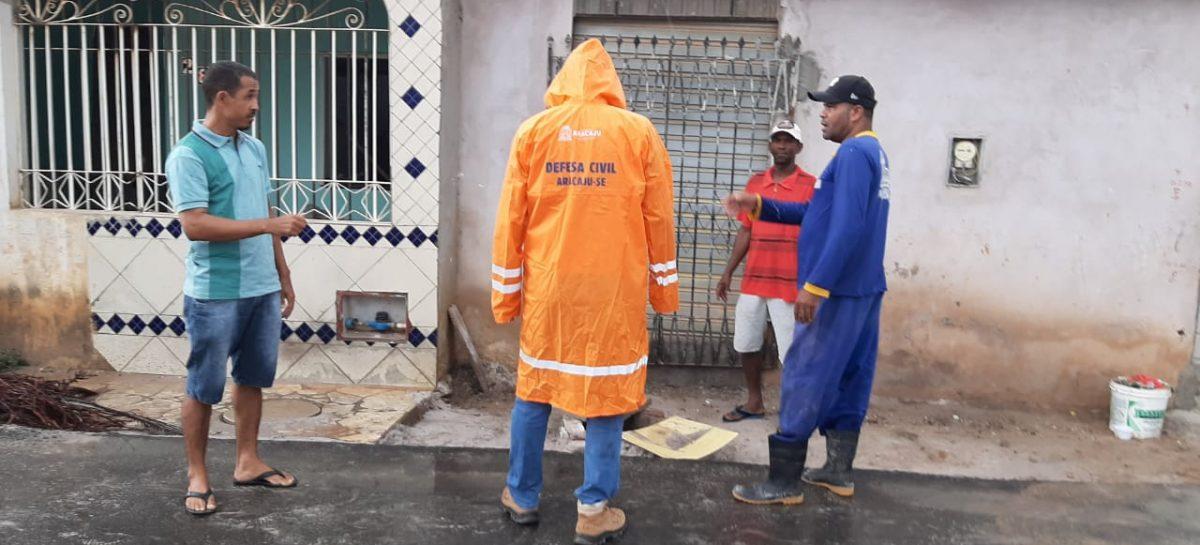Equipes da Defesa Civil de Aracaju em alerta para chuvas