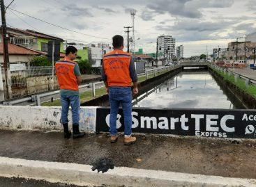 Equipes monitoram situação da chuva e atuam preventivamente em Aracaju nesta segunda