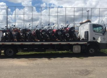 Operação do 7º BPM termina com a apreensão de diversas motocicletas