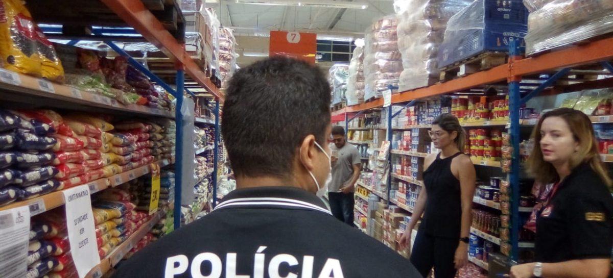 PC, Procon/SE e MPSE realizam fiscalização em supermercados da capital