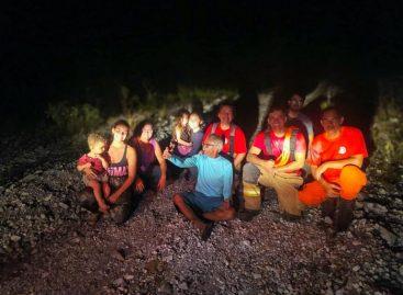 Bombeiros resgatam sete pessoas na Serra da Miaba