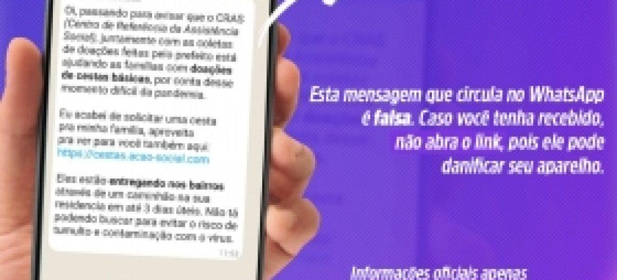 Prefeitura de Aracaju desmente fake news sobre distribuição de cestas básicas