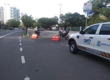 Bloqueados acesso aos estacionamentos da Orla, Praia Formosa e 13