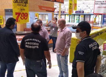 PC e Procons realizam fiscalizações em Aracaju, Pirambu e Socorro