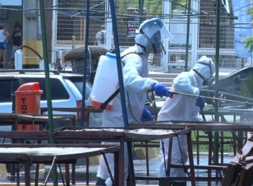 Trabalho de desinfecção em Socorro é destacado pelo prefeiro Padre Inaldo