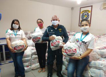 Blitz Solidária da CPTran recebe mil cestas básicas do INEC que serão doadas para 15 instituições