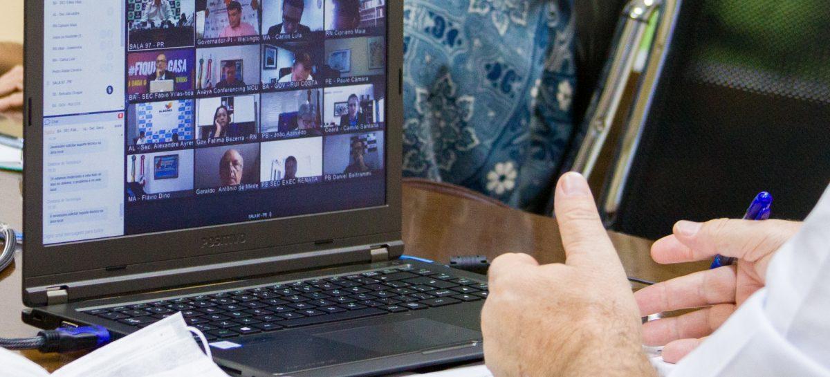 Em videoconferência com o ministro da Saúde, Belivaldo pede rotina no envio de respiradores