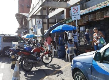 Movimento é muito grande no mercado Virginia Franco em Aracaju
