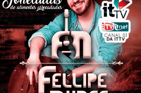 Live solidária de Fellipe Nunes arrecada 2 toneladas de alimentos para a Apae Aracaju