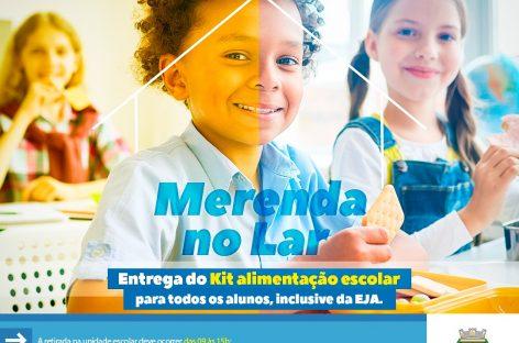 Socorro fará nova distribuição de kits alimentação escolar para os alunos da rede municipal