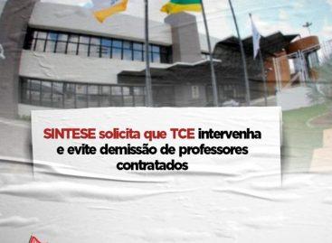 SINTESE solicita que TCE intervenha e evite demissão de professores contratados