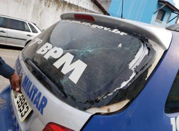 Homem é preso após agredir a esposa e tentar agredir policiais o 7º BPM