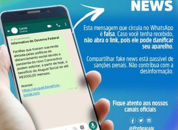 Assistência Social de Aracaju desmente fake news sobre suposto auxílio moradia