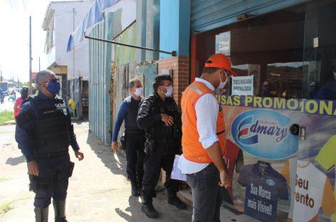 Covid-19: zona de expansão tem 21 lojas fechadas pela Defesa Civil