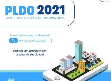Questionário sobre o PLDO 2021 de Aracaju já está disponível no portal da Prefeitura