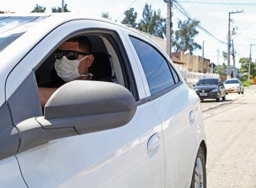 Prefeitura recomenda uso de máscara a condutores de veículos