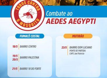 Confira  o cronograma semanal das ações de combate à dengue na capital