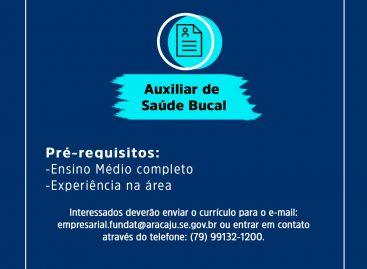 Prefeitura divulga oferta de vagas de emprego para auxiliar de Saúde Bucal e polidor