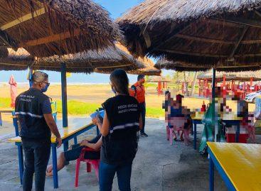 Prefeitura realiza mais uma ação de fiscalização de bares e restaurantes na praia