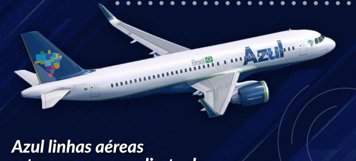 Azul linhas aéreas retoma com voos direto de Campinas para Aracaju