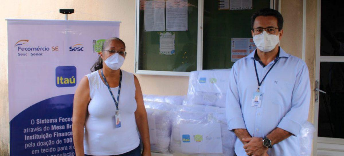 Sistema Fecomércio entrega máscaras para doação em várias instituições
