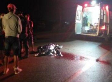 Jovem morre ao colidir moto em animal na rodovia SE 175