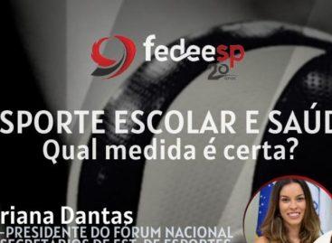 Sergipe participa de live com o professor Márcio Atalla sobre desporto escolar
