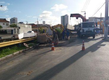 Trânsito na Anísio Azevedo sofrerá alterações durante reconstrução de pontilhão