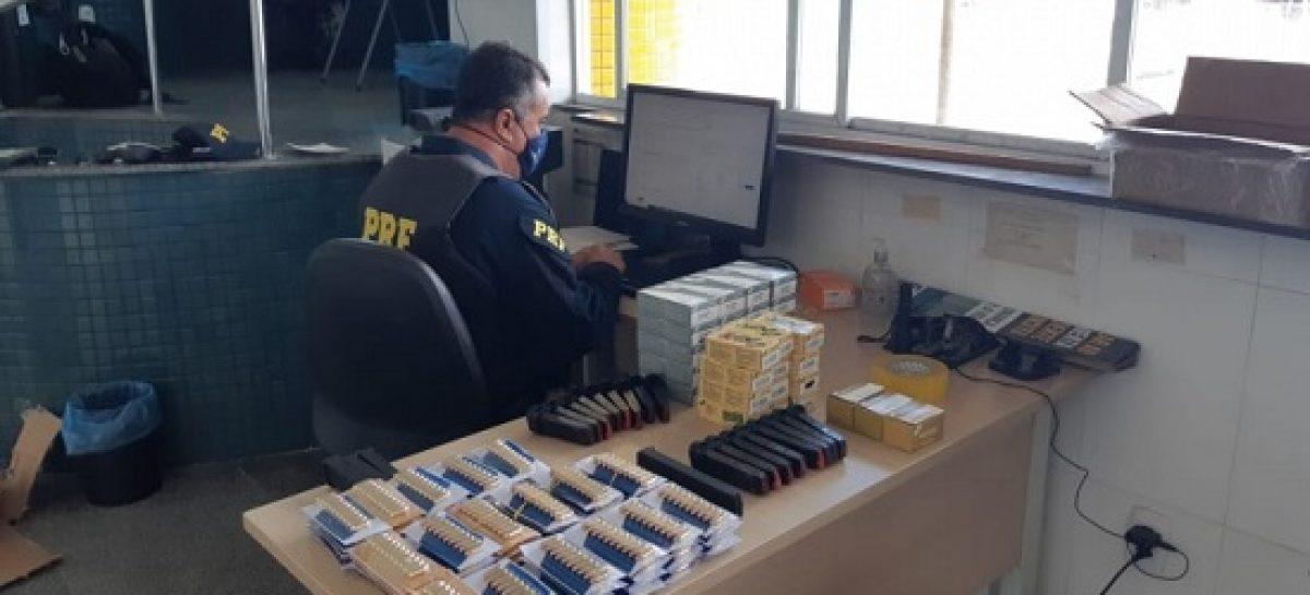 Mais de 2,6 mil munições e carregadores são apreendidos pela PRF