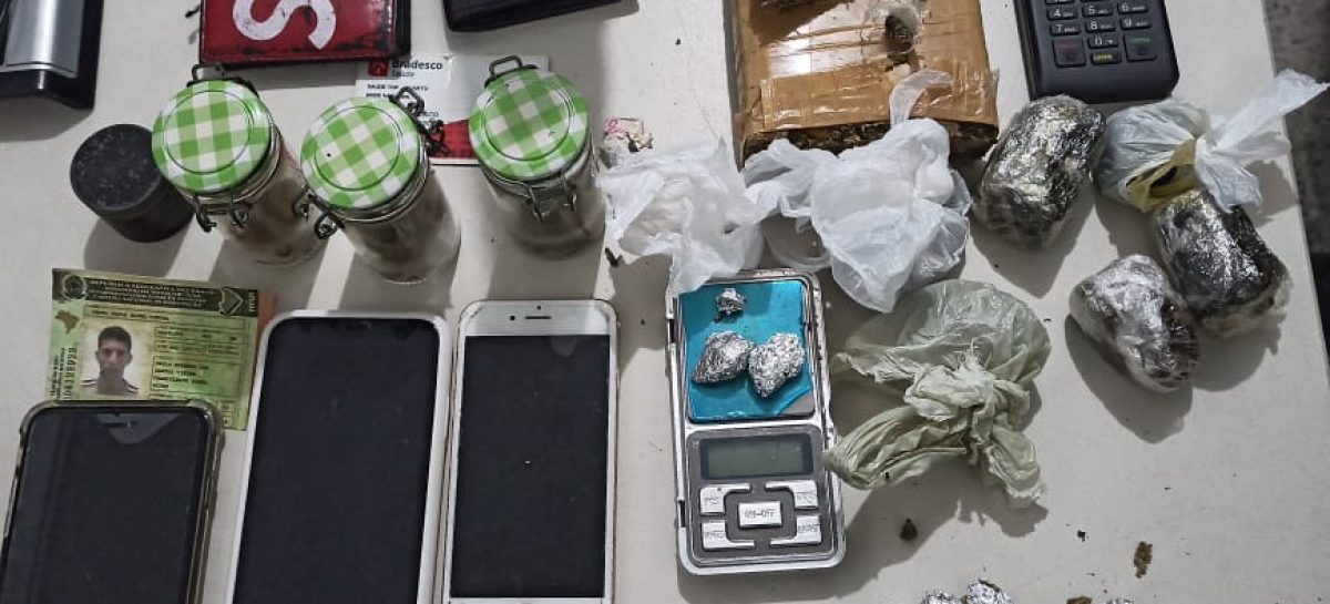 Tático prende suspeito por tráfico de drogas no Orlando Dantas