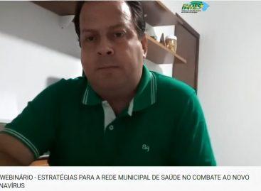 Webnário da FAMES apresenta estratégias de combate ao novo coronavírus nos municípios