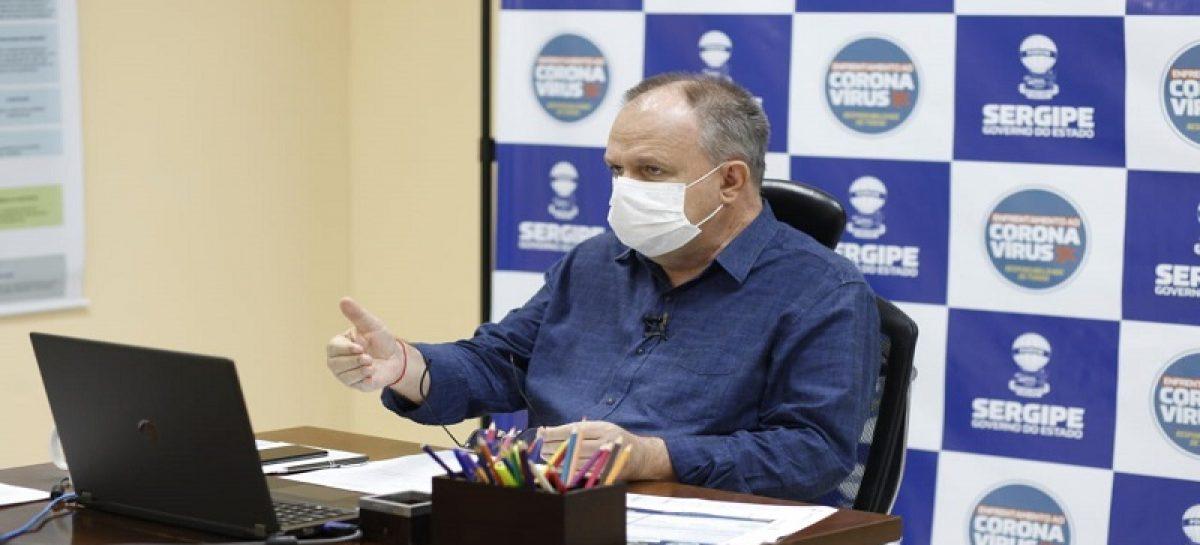 Governador Belivaldo Chagas retorna a atividade presencial e analisa reabertura do comércio