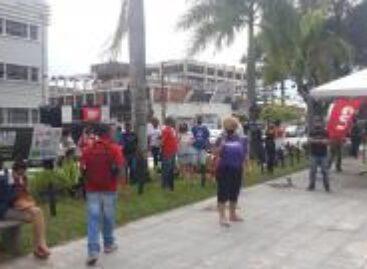 Ato em Aracaju no dia nacional de luto em memória das vitimas da covid-19
