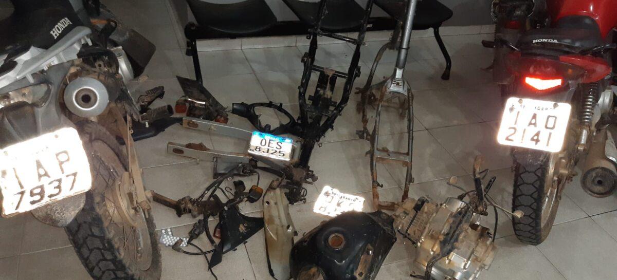 Policiais militares descobrem desmanche e recuperam motocicletas no interior do estado