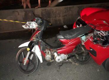 Condutor embriagado é detido após colidir em um ciclomotor na ponte da Barra