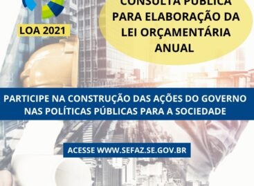 Governo de Sergipe disponibiliza consulta pública para a LOA