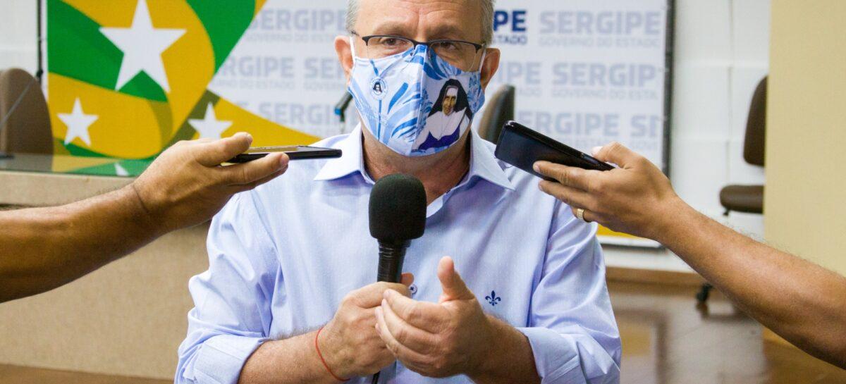 """Belivaldo: """"Prudência, cooperação e união. Usem máscaras e evitem aglomeração"""""""