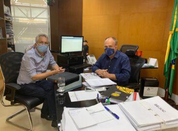 Prefeito Marcos Santana é recebido pelo governador Belivaldo Chagas