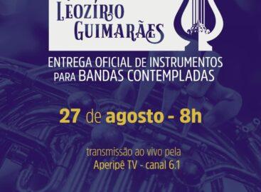 Funcap oficializa entrega de 48 instrumentos para Bandas Filarmônicas
